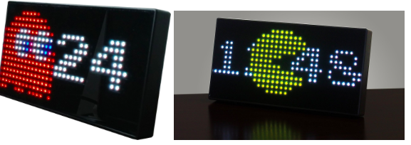 PAC-MAN LED clock!