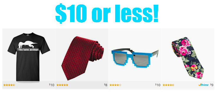 $10 or less plus free shipping!
