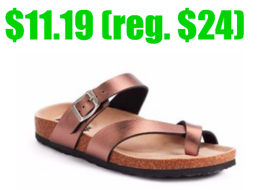 Mudd Toe Loop Sandals only $11.19!