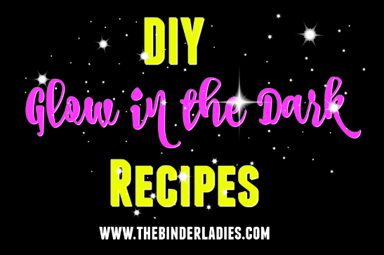 DIY glow in the dark recipes