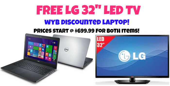"Laptop Deal + FREE 32"" TV!!"
