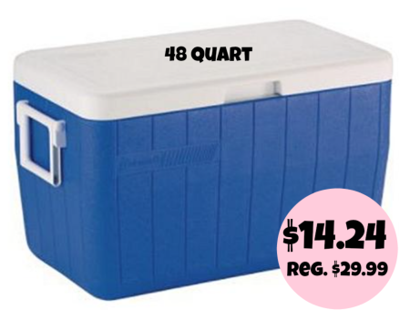 Coleman 48 quart Cooler only $14.24
