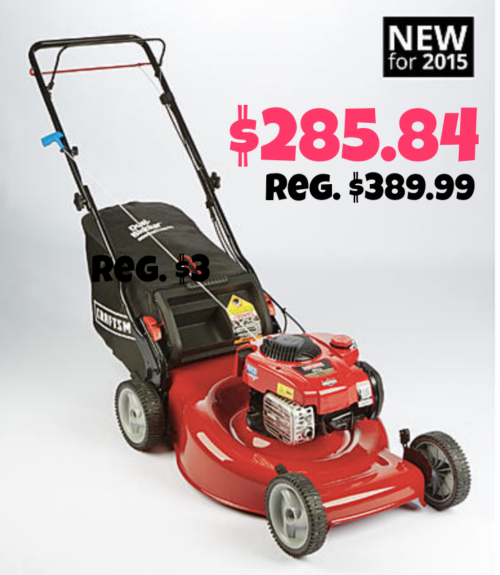 Awesome lawn mower deal at Sears!
