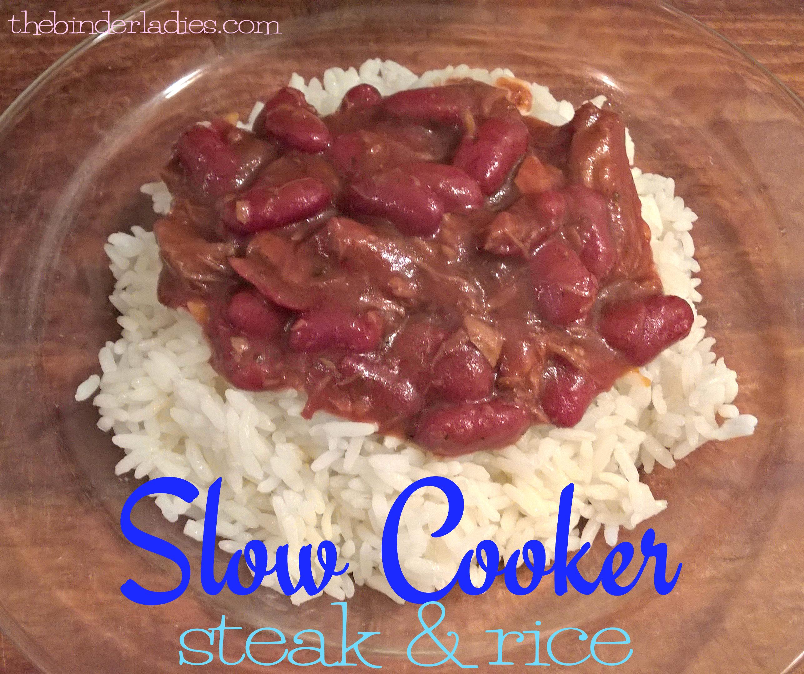 Slow Cooker Steak & Rice Recipe