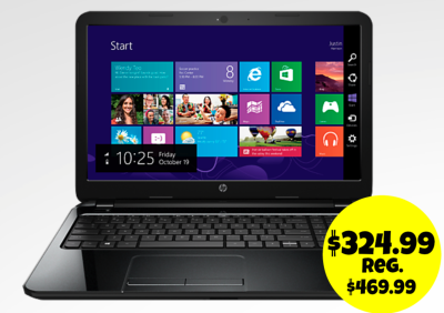 HP Touchscreen laptop only $324.99!