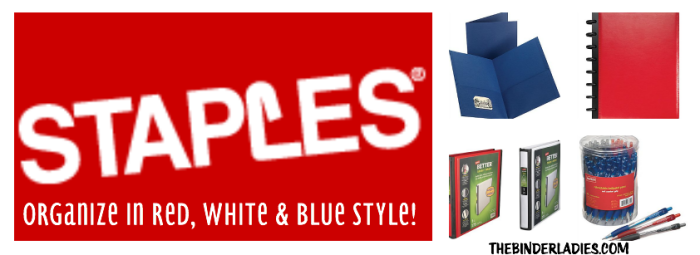Staples red, white & blue organization!