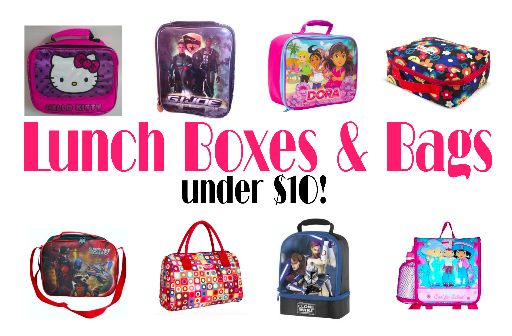 Lunch boxes and bags under $10