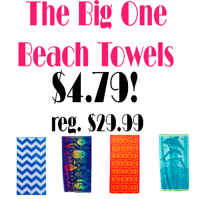The Big One Beach Towels only $4.79!