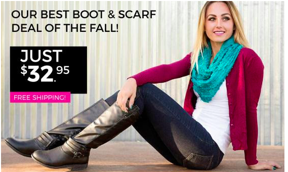 Cents of Style Boot & Scarf Deal