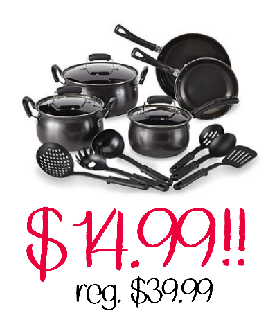 14 piece cookware only $14.99!