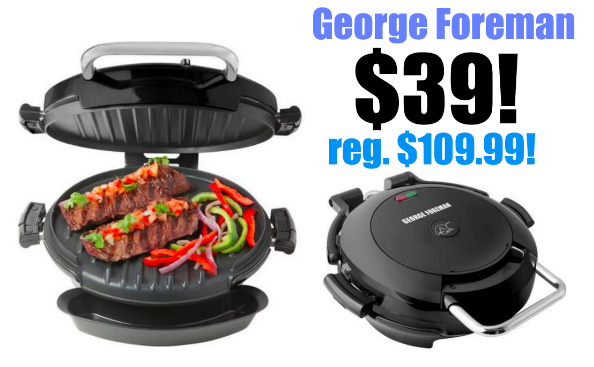George Foreman 360 Grill only $39! (reg. $109)