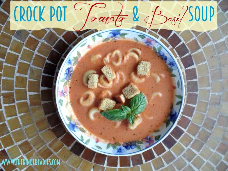 Crock Pot Tomato & Basil Soup