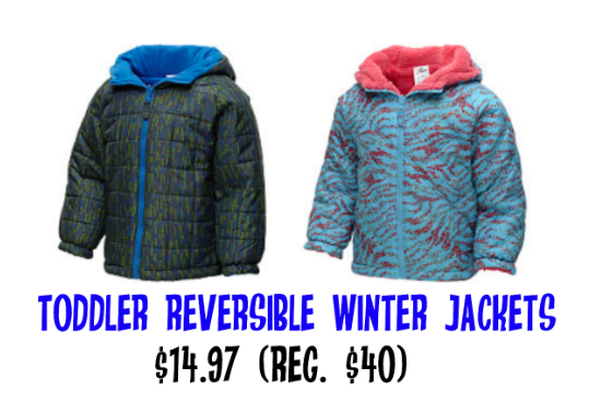 Toddler Reversible Jackets only $14.97
