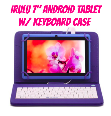 "iRULU 7"" Android Tablet with Keyboard Case"