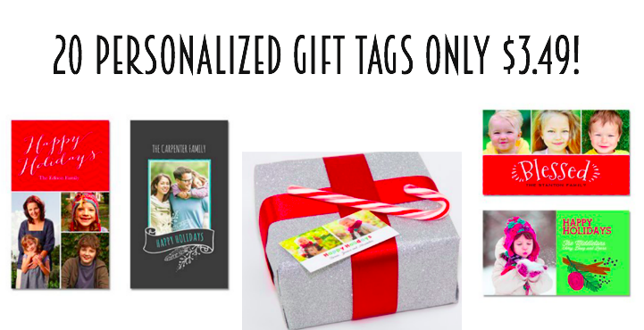 20 personalized gift tags only $3.49!