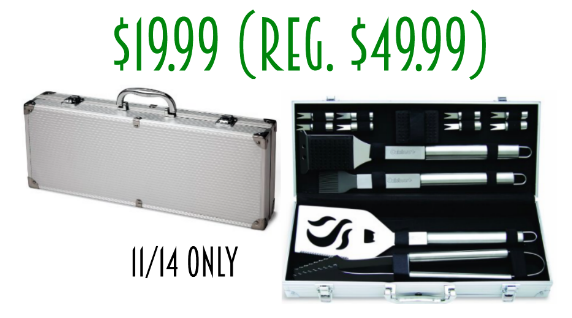 11/14 only 14 piece Stainless Steel Grilling Set only $19.99