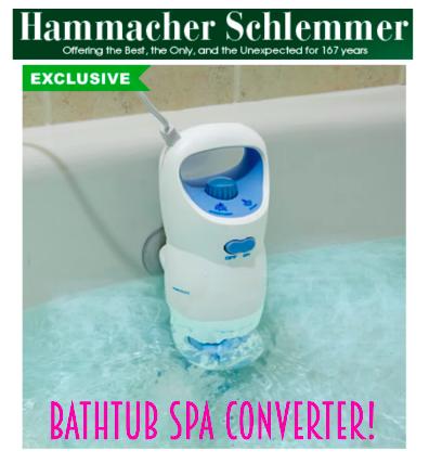 Hammacher Schlemmer Bathtub Spa Converter