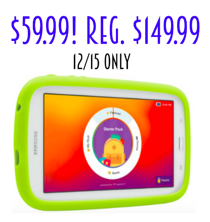 12/15 only! Samsung Galaxy Tab 3 Lite Kids Edition only $59.99! Reg. $149.99