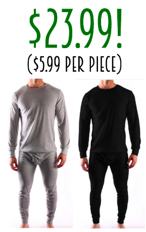 Men's Thermal Sets only $23.99!