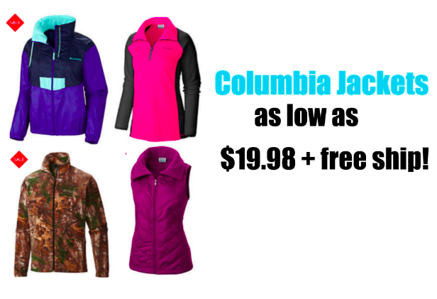 Columbia Jackets only $19.98!