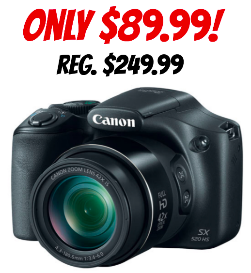 Refurb. Canon PowerShot Camera only $89.99 (reg. $249.99)