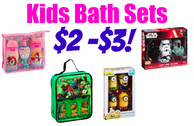 Kids' Bath Gift Sets only $2! Stock up!