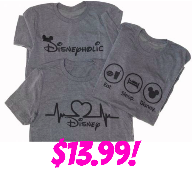 Disney Love Tees only $13.99