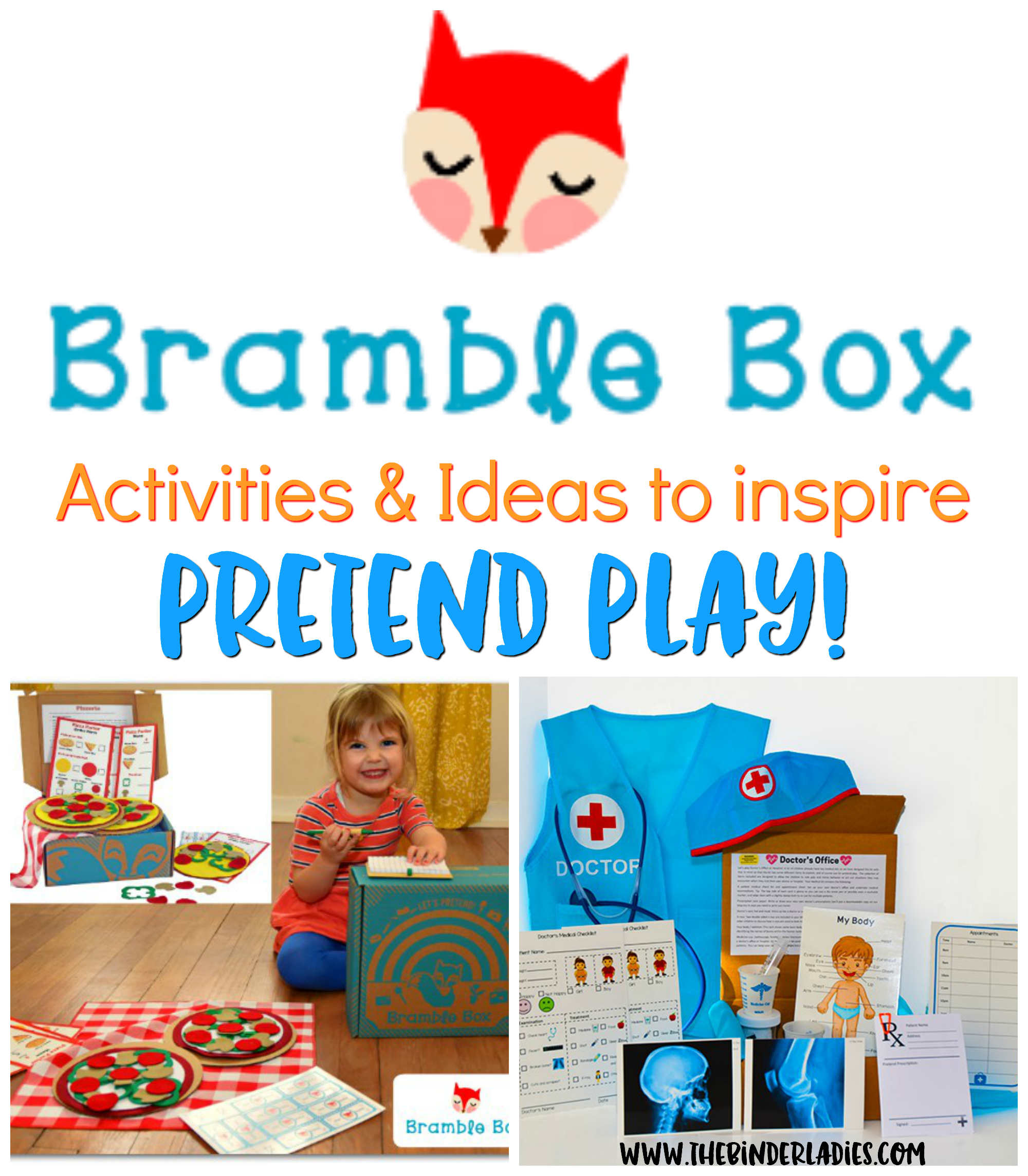 Bramble Box - Kids' Subscription Boxes. Activitives and ideas to inspire pretend play