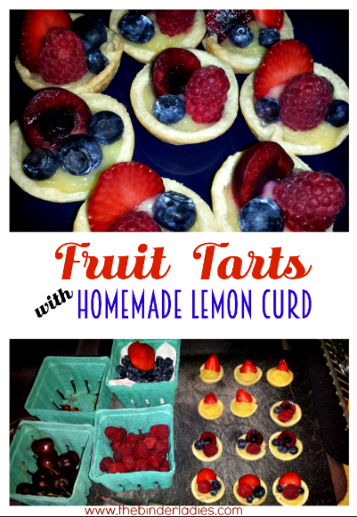 Fruit Tarts with Homemade Lemon Curd