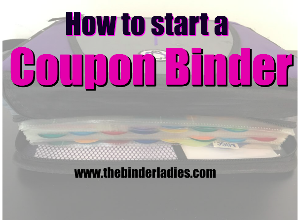 how to start a coupon binder