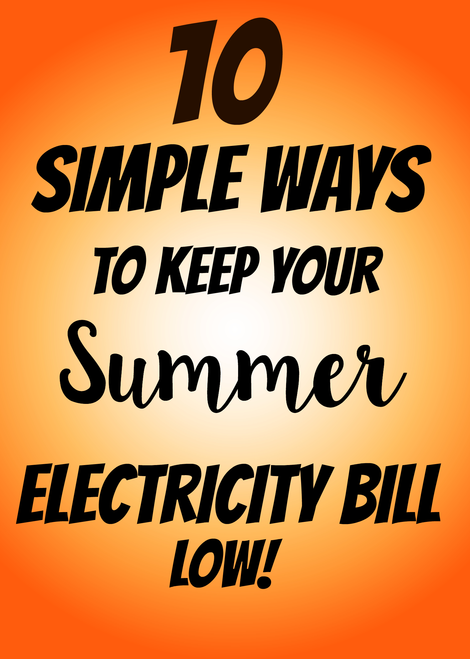 summer electricity bill
