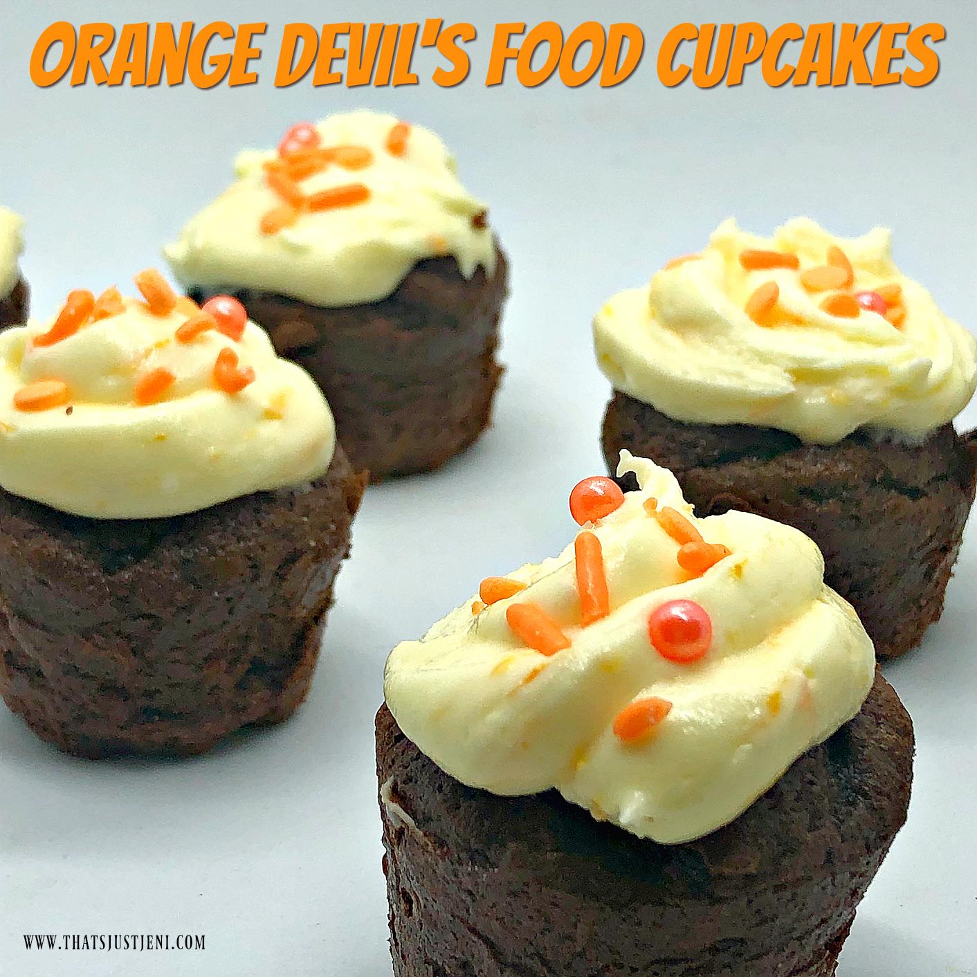 Orange Devil's Food Cupcakes Recipe