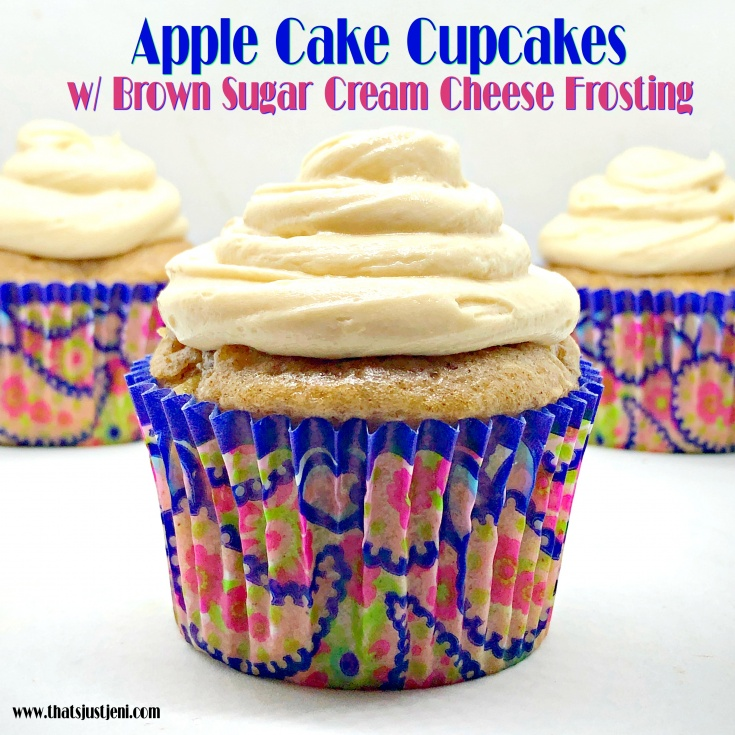 Apple Cake Cupcakes with Brown Sugar Cream Cheese Frosting