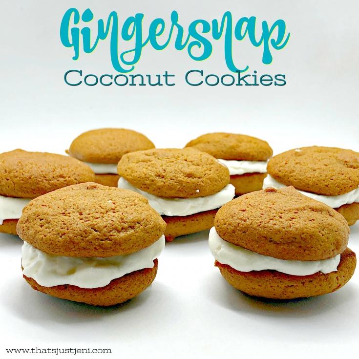 Gingersnap Coconut Cookies