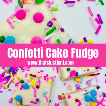 Confetti Cake Fudge
