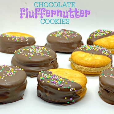 Chocolate Fluffernutter Cookies