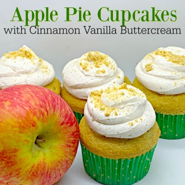 Apple Pie Cupcakes with Cinnamon Vanilla Buttercream