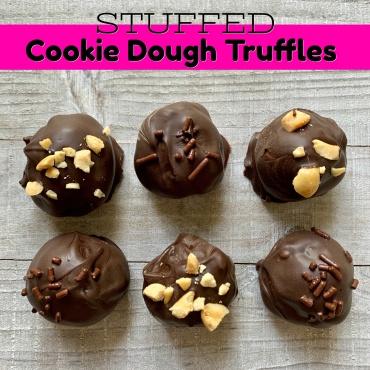 Stuffed Cookie Dough Truffles – 3 Ingredients!
