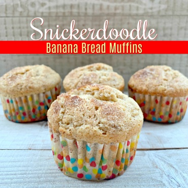 Snickerdoodle Banana Bread Muffins