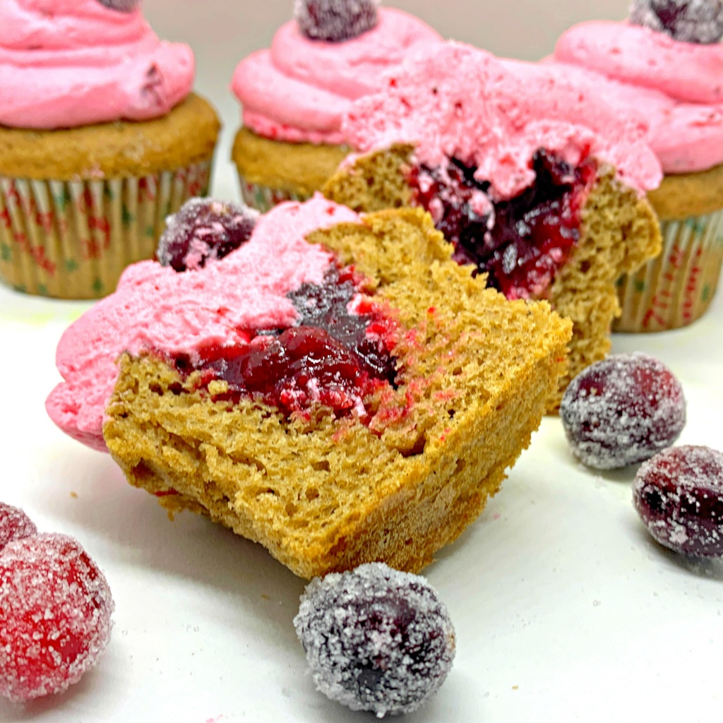 spiced cranberry cupcakes